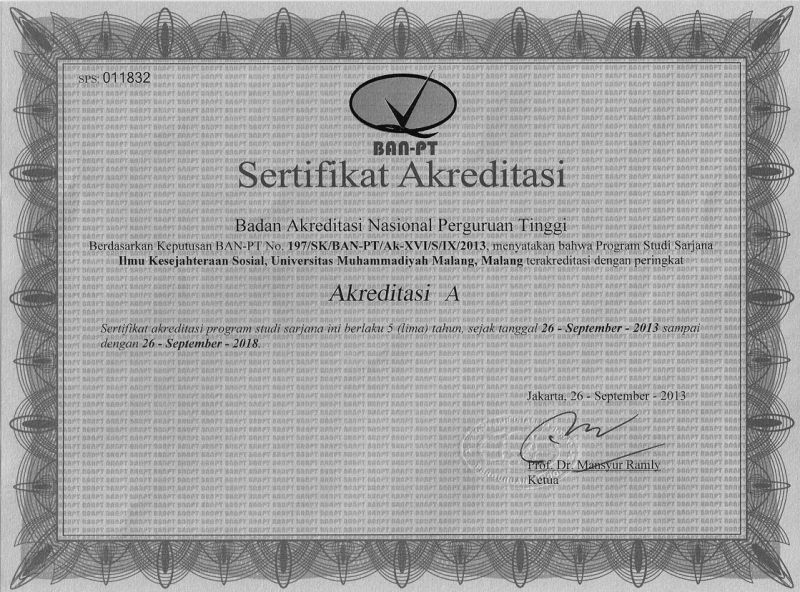 Akreditasi Program Studi - Biro Administrasi Akademik