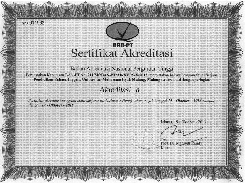 Akreditasi Program Studi Biro Administrasi Akademik Universitas